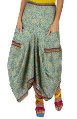 Jupe longue drapée style ethnique originale chic Renardi