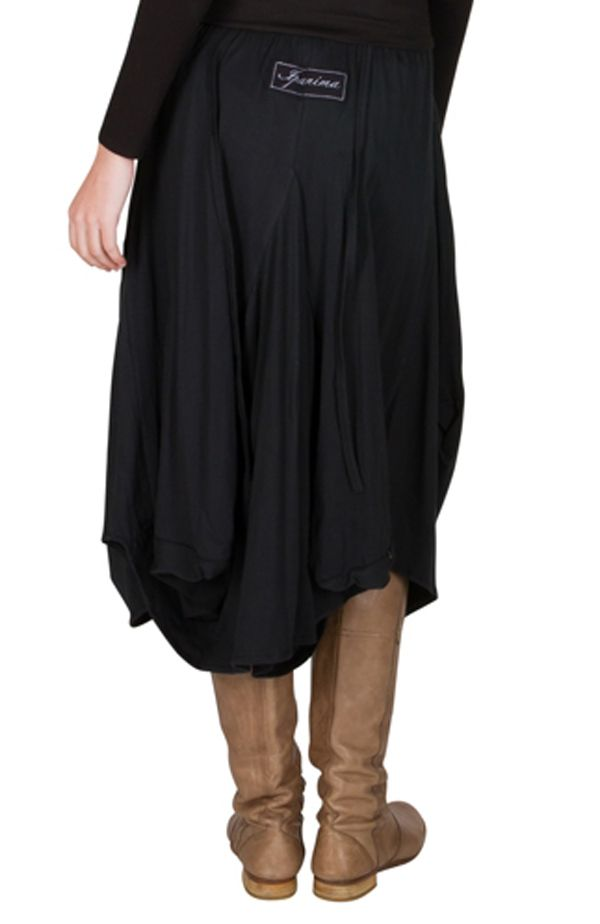 Jupe longue en coton ample avec deux poches fantaisie Delphine 301263
