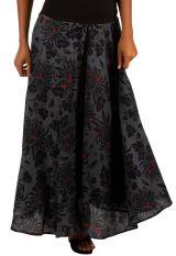 Jupe longue en voile de coton avec un imprimé fleuri Nadia 305633