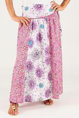 Jupe longue été à fleurs ethnique originale femme Ahalyn 315208