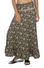 Jupe longue été imprimé à fleurs ethnique et bohème Sophia
