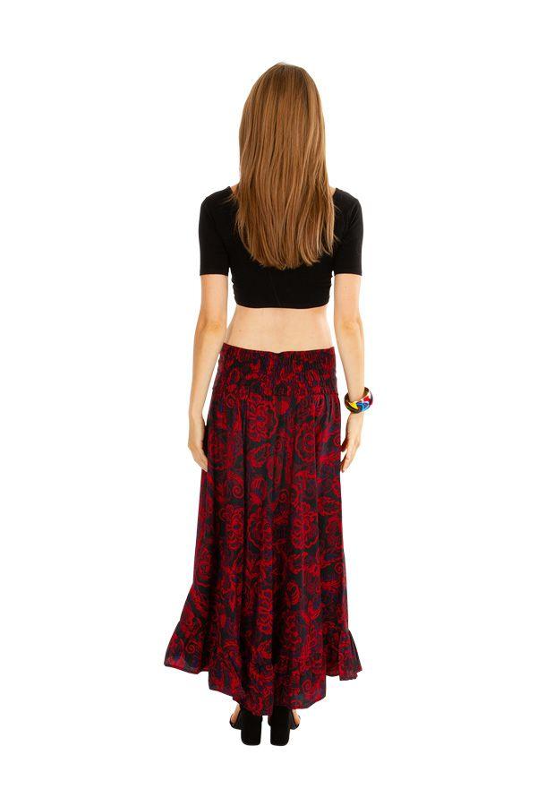 Jupe longue ethnique-chic imprimée de fleurs Joline 309128