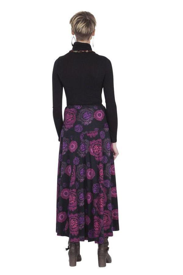 Jupe longue Ethnique et Originale Kazia Noire et Rose 285514