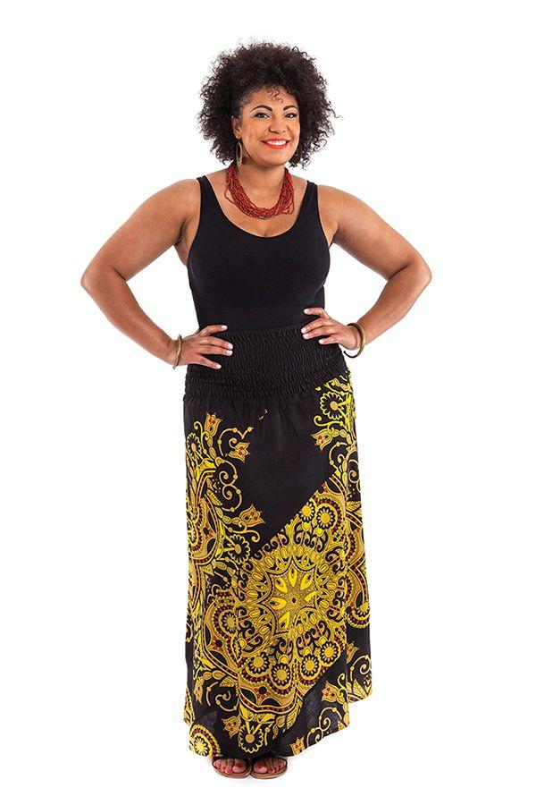 Jupe longue ethnique grande taille Maréva 281748