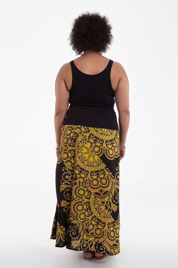 jupe longue ethnique grande taille mar va. Black Bedroom Furniture Sets. Home Design Ideas