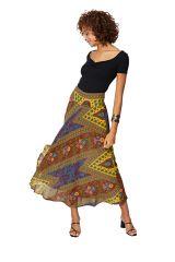 Jupe longue évasée femme imprimé wax chic ethnique Chiyako