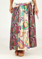 Jupe longue fleurie été chic ethnique femme Ahalyb 315212
