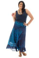Jupe longue grande taille bleue pour cérémonie Ashley 289954