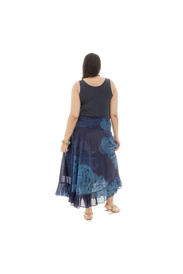 Jupe longue grande taille bleue pour cérémonie Ashley 289955