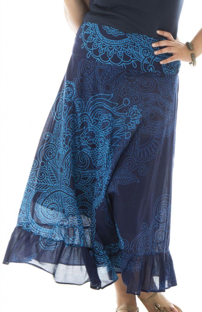 Jupe longue grande taille bleue pour cérémonie Ashley 291969