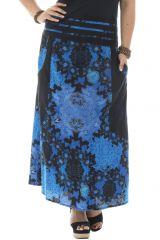 Jupe longue grande taille colorée en coton Justine 291963