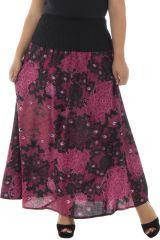 Jupe grande taille unie noire, colorée, imprimée avec un