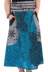 Jupe longue grande taille et originale bleue Nouméa 282099