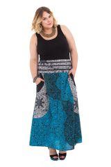 Jupe longue grande taille et originale bleue Nouméa 282100