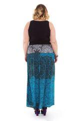 Jupe longue grande taille et originale bleue Nouméa 282101