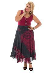 Jupe longue grande taille ethnique chic pour l' été Ashley 289956