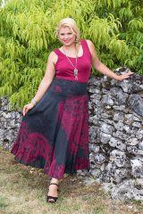 Jupe longue grande taille ethnique chic pour l' été Ashley 289959
