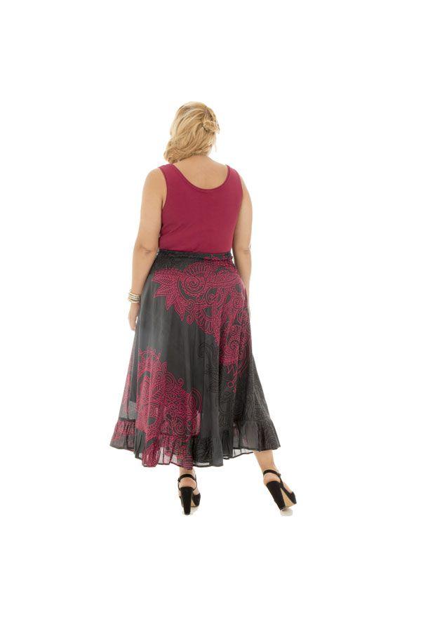 Jupe longue grande taille ethnique chic pour l' été Ashley 289960