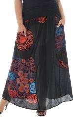 Jupe longue grande taille ethnique en coton Justine 291961