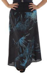 Jupe longue grande taille imprimée en coton Justine 291960
