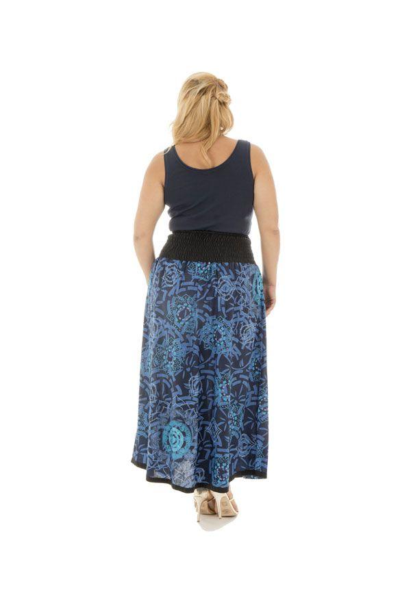 Jupe longue grande taille originale en coton Justine