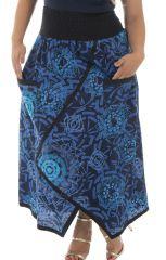 Jupe longue grande taille originale en coton Justine 293040