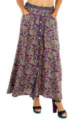Jupe longue imprimée fluide et agréable pour femme Inés 305883