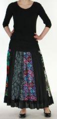 Jupe longue noire ethnique transformable 2en1 Elise 271144