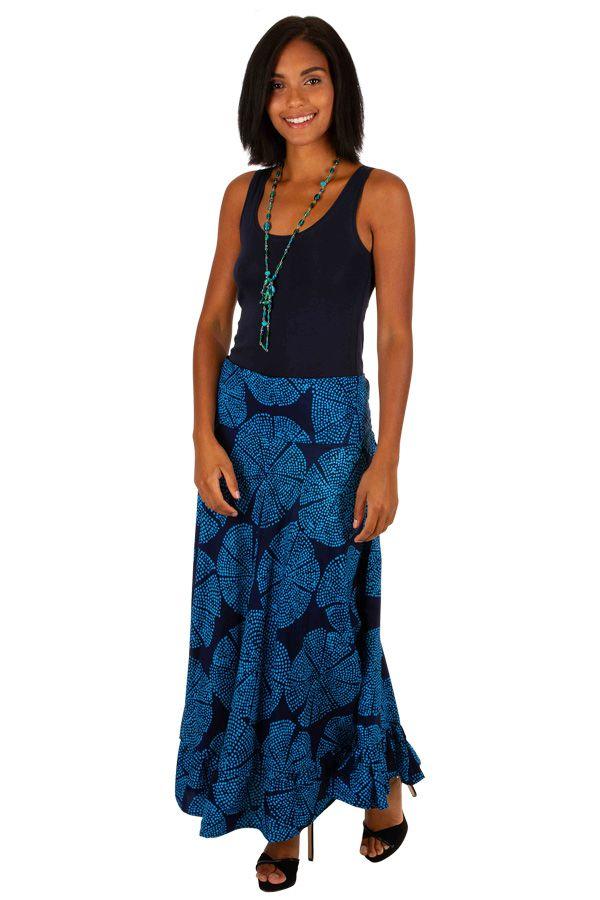 Jupe longue originale bleue à petits pois femme Taylor