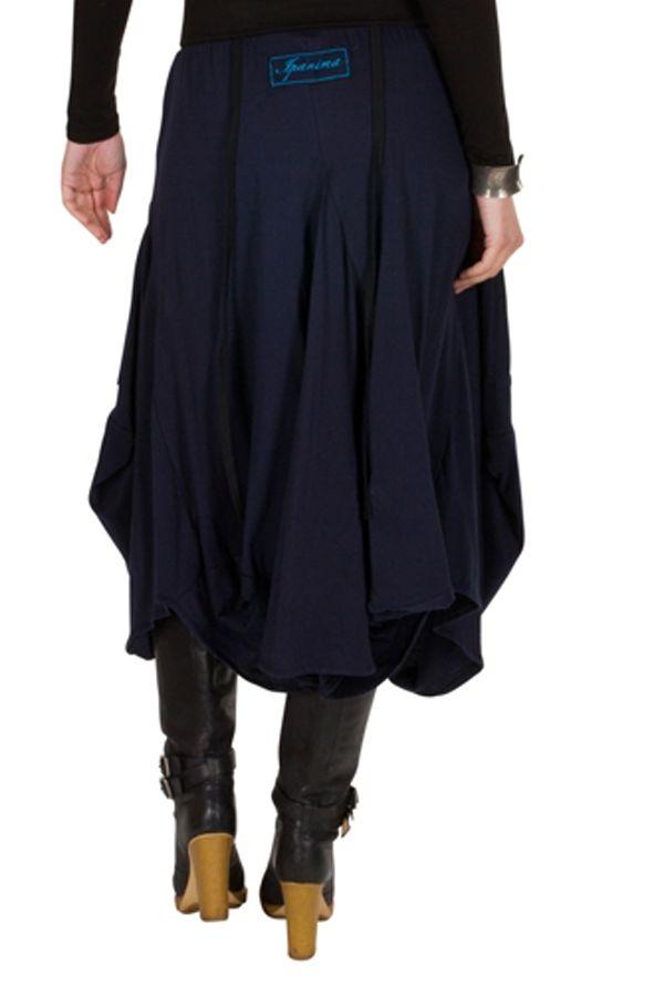 Jupe longue originale Bleue marine et brodée tendance Gladisse 301219