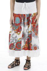Jupe longue originale colorée et imprimée paisleys Bianca 310668