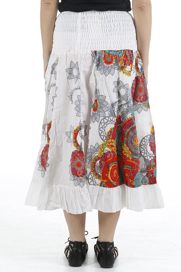 Jupe longue originale colorée et imprimée paisleys Bianca 310669