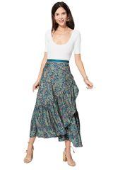 Jupe longue portefeuille femme gypsie chic boho été Shizuko