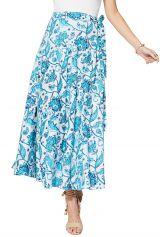Jupe longue portefeuille pour femme à imprimé fleurs Arleen
