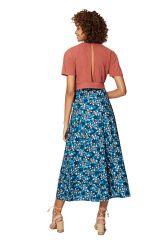 Jupe longue portefeuille pour femme chic bohème à fleurs Aurora