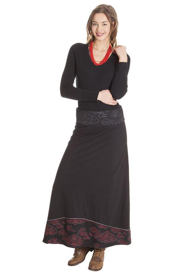 Jupe longue pour Femme Ethnique et Bohème Carisma Noire 285498