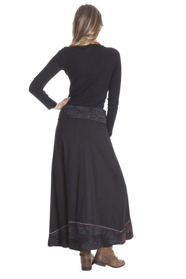 Jupe longue pour Femme Ethnique et Bohème Carisma Noire 285499
