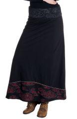 Jupe longue pour Femme Ethnique et Bohème Carisma Noire 286675