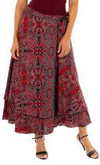 Jupe longue pour femme ethnique et imprimée Lolita 310152