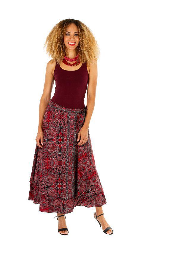 Jupe longue pour femme ethnique et imprimée Lolita 313004