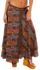 Jupe longue pour femme imprimée et colorée Laetitia 310140