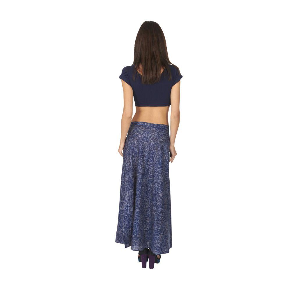 Jupe longue pour femme originale coupe portefeuille Emma 315490