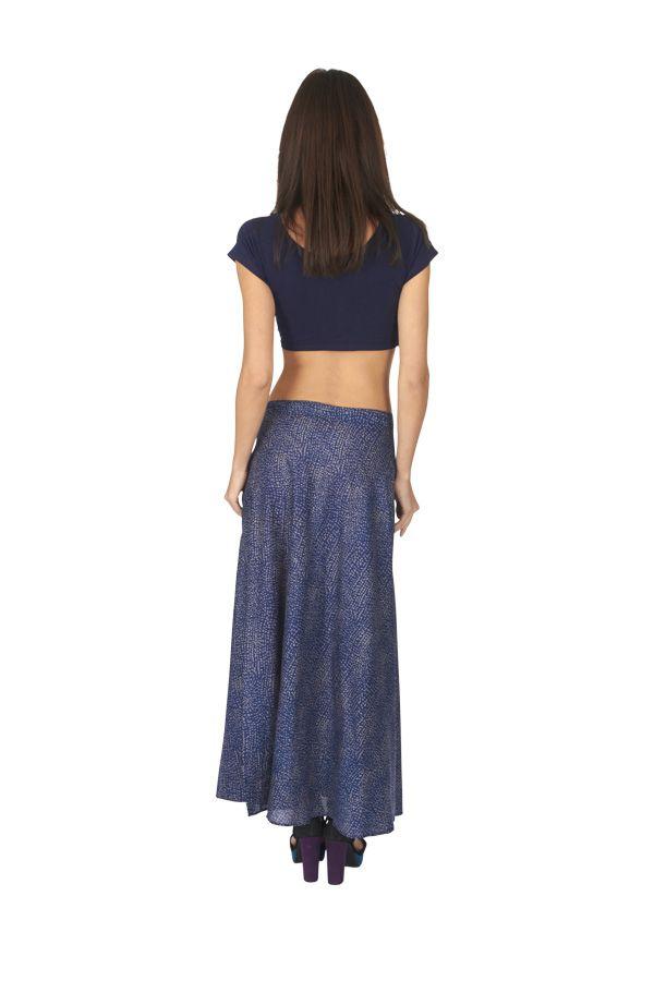 Jupe longue pour femme originale coupe portefeuille Emma 315492