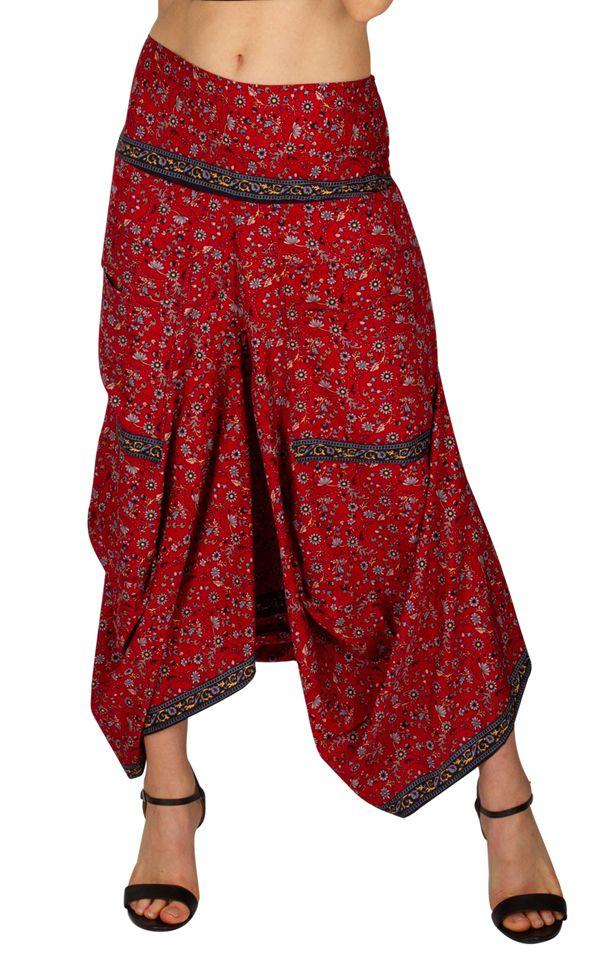 Jupe Femme Longue Rouge Pour Cassandra Sarouel Effet 5RA34jL
