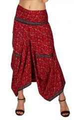 Jupe longue rouge pour femme effet sarouel Cassandra 310131
