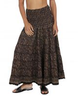 Jupe longue taille haute bohème chic femme pytagose 316365