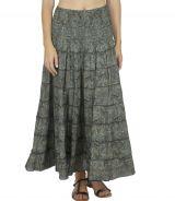 Jupe longue taille haute femme ethnique chic femme pytagosy 316353