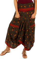 Jupe longue très originale ethnique imprimée paisleys Anna 310134