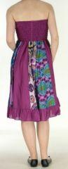 Jupe longue violette ethnique transformable 2en1 Elise 271150