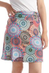 Jupe mi-longue colorée avec mandalas fantaisies Ilona 297912
